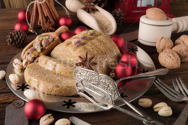 Cake zonnebloem vet christmas dessert zaad Stockfoto © Dar1930