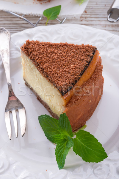 Bolo de queijo bolo verde fresco doce refeição Foto stock © Dar1930