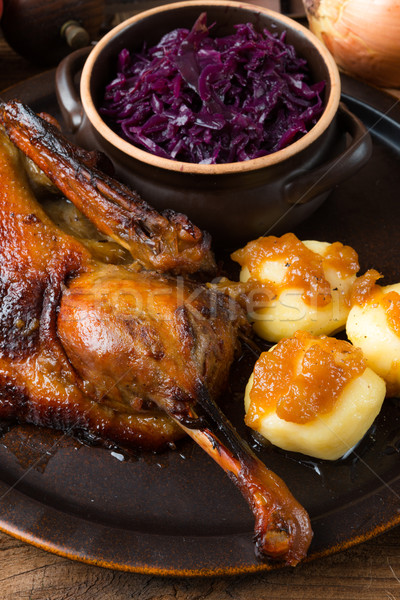 duck with dumplings and pickled plum Stock photo © Dar1930