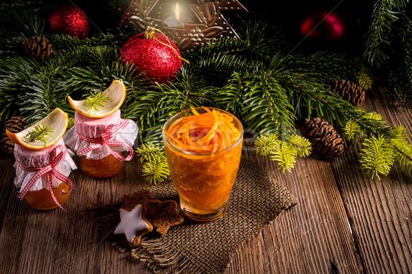 Zeller krém leves étel fa klasszikus Stock fotó © Dar1930