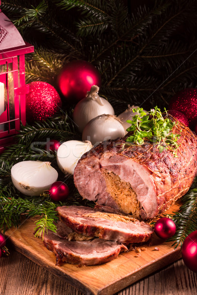 Oignon farce alimentaire citron cuisson Noël Photo stock © Dar1930