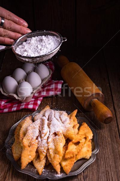 Ailes d'ange heureux fond star dessert belle Photo stock © Dar1930