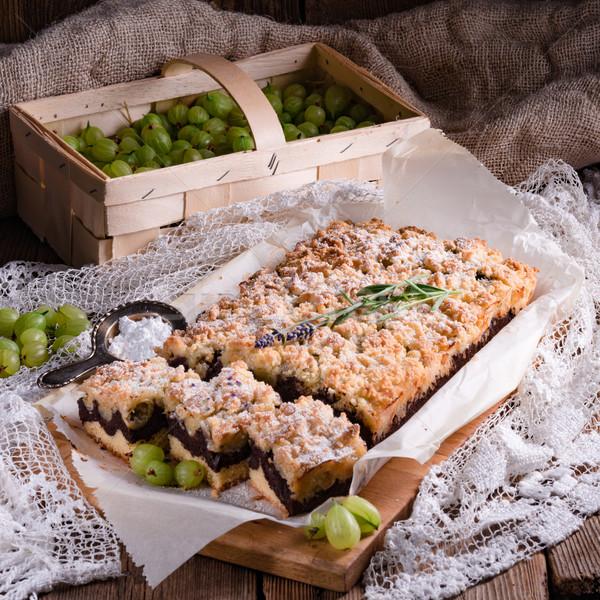 Gooseberries chocolate cake Stock photo © Dar1930