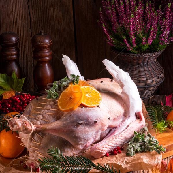 Raw goose in marinade Stock photo © Dar1930
