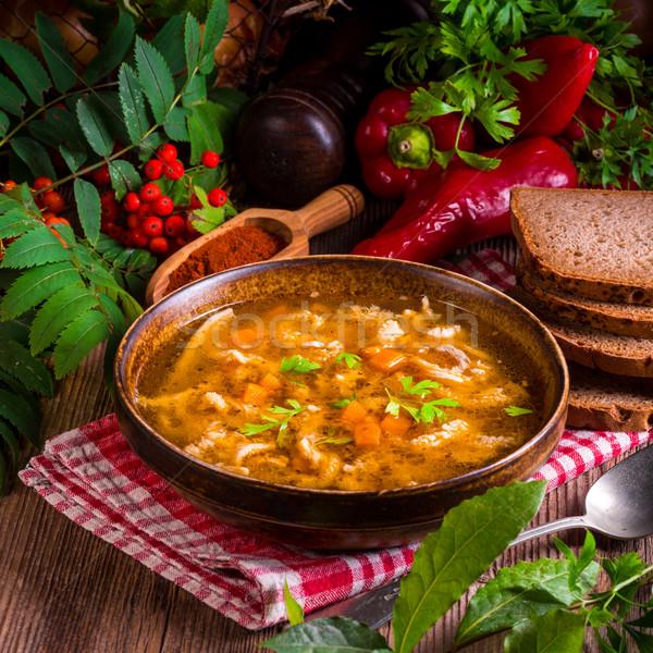 polish beef tripe soup Stock photo © Dar1930