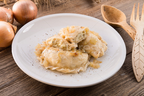 Pierogi.Polish dish 	 Stock photo © Dar1930