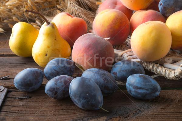 свежие плодов продовольствие интернет дизайна лист Сток-фото © Dar1930