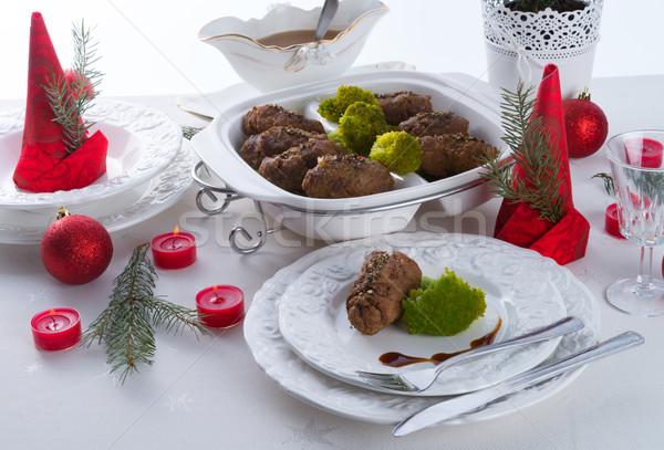 Smakelijk vee vlees peper eten Geel Stockfoto © Dar1930