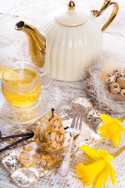 almonds pear and tea Stock photo © Dar1930