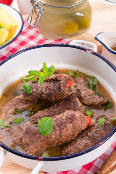 Sığır eti gıda inek restoran akşam yemeği et Stok fotoğraf © Dar1930