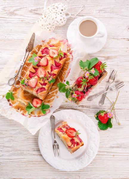 Strawberry cake Stock photo © Dar1930
