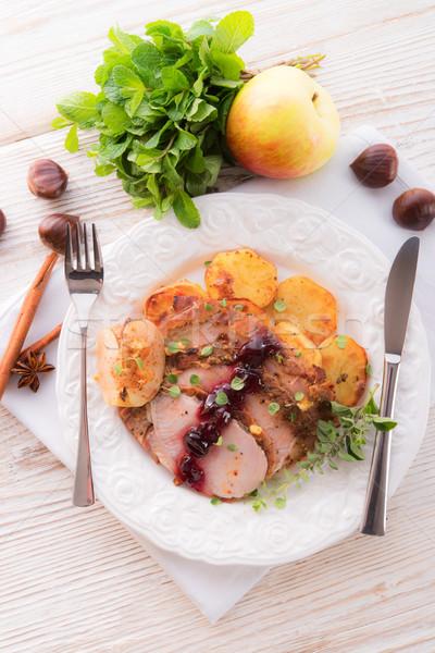roasted turkey Stock photo © Dar1930
