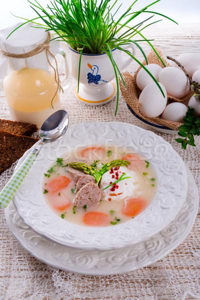 Stock photo: polish white borscht