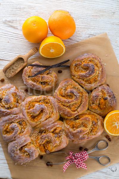 свежие ваниль оранжевый продовольствие фрукты яйцо Сток-фото © Dar1930
