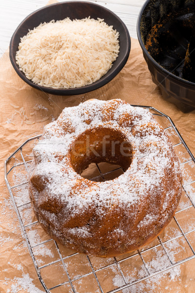 gluten-free cake with rice flour and kaymak Stock photo © Dar1930