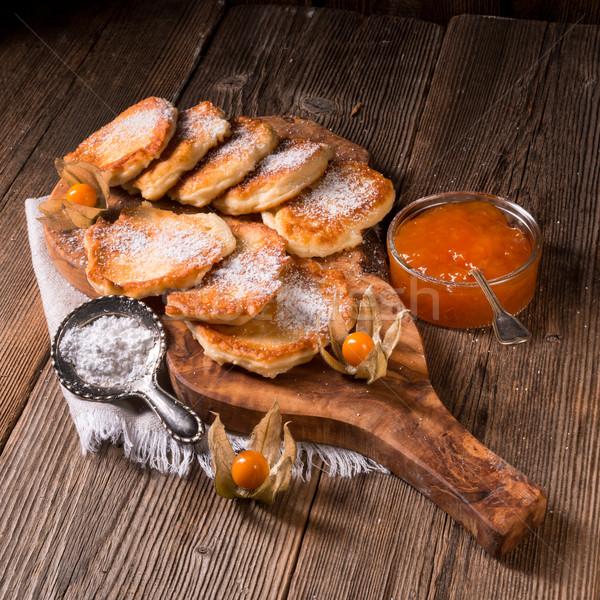 Levedura panquecas comida festa maçã fundo Foto stock © Dar1930