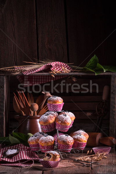blueberries muffins Stock photo © Dar1930
