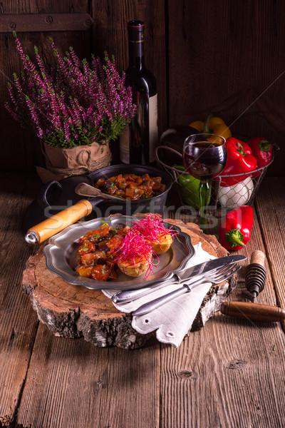 Batata raiz de beterraba comida cozinha jantar Foto stock © Dar1930