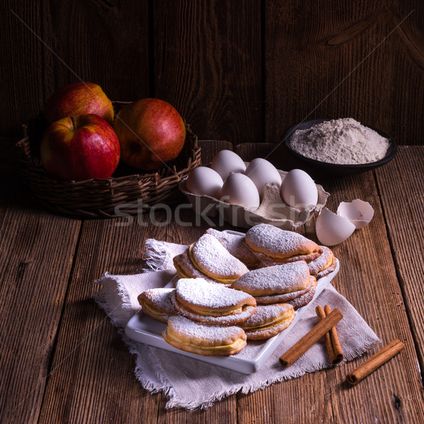 Stock photo: fruity apple cinnamon mostbiscuits