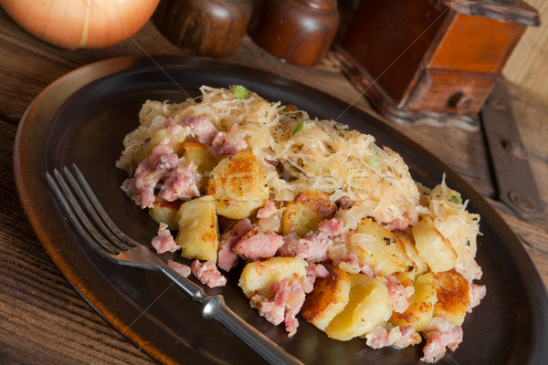 sauerkraut dumplings Stock photo © Dar1930
