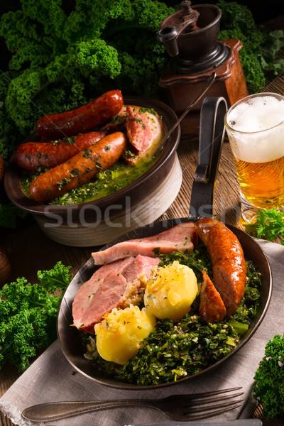 Gıda yeşil kış yaprakları akşam yemeği pişirmek Stok fotoğraf © Dar1930