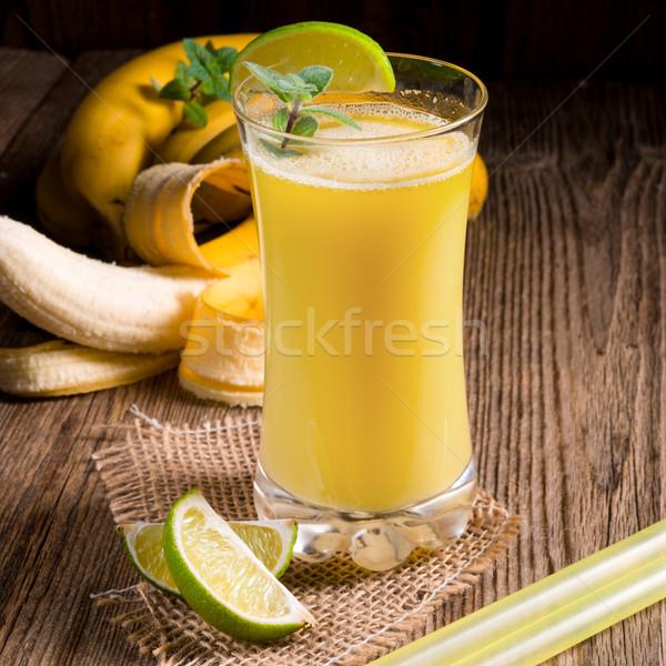 Gıda ahşap yaprak meyve enerji kahvaltı Stok fotoğraf © Dar1930
