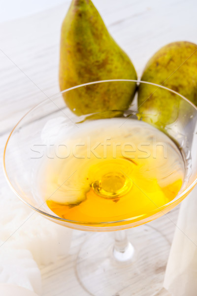 Pereira licor madeira fitness chocolate fundo Foto stock © Dar1930