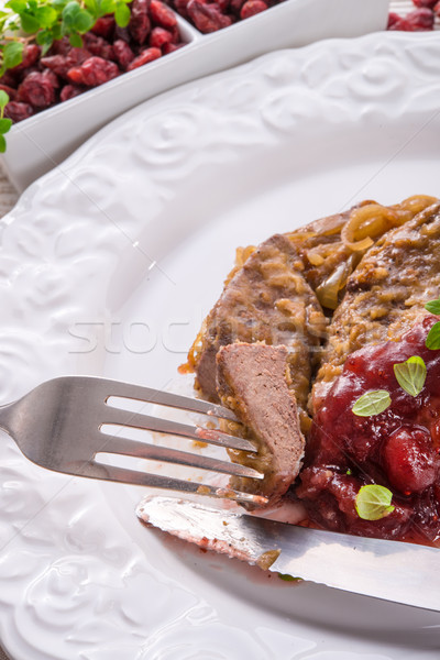 Foie restaurant poulet rouge viande Photo stock © Dar1930
