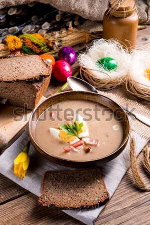 polish Sour rye soup Stock photo © Dar1930