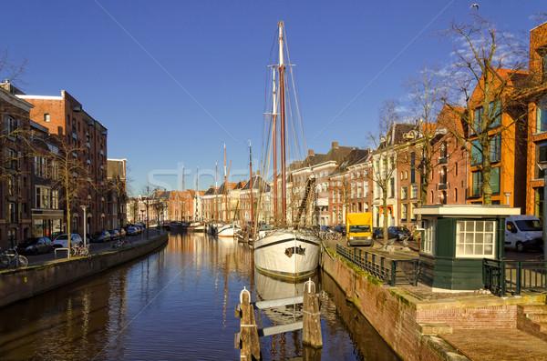 Groningen harbour Stock photo © Dar1930