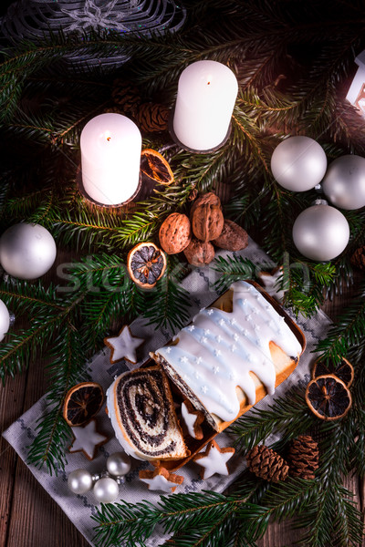 Natale papavero sementi torta alimentare verde Foto d'archivio © Dar1930