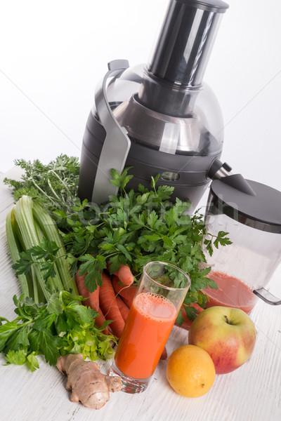 Vegetales vidrio salud fondo cocina Foto stock © Dar1930