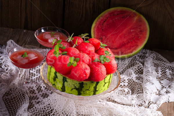 cooled watermelon pie Stock photo © Dar1930