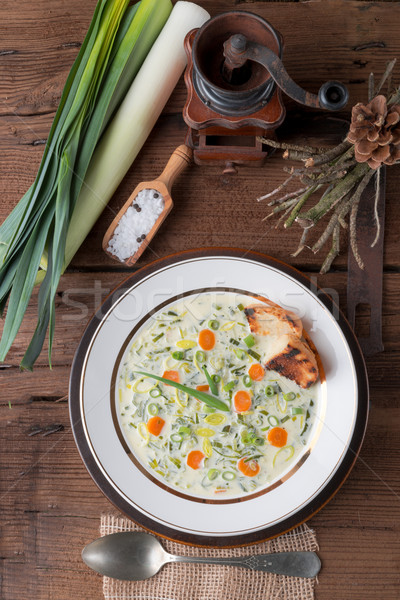 leek cheese soup Stock photo © Dar1930
