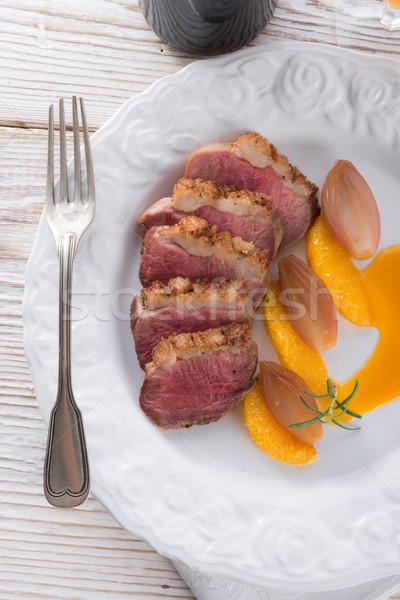 goose's fillet with orange sherry sauce Stock photo © Dar1930