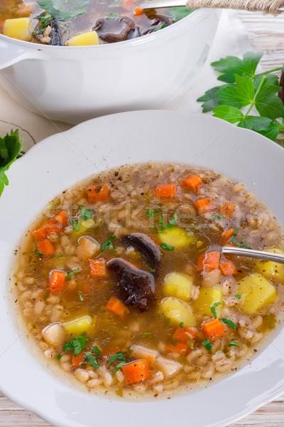 Krupnik – Polish Pearl Barley Soup Stock photo © Dar1930