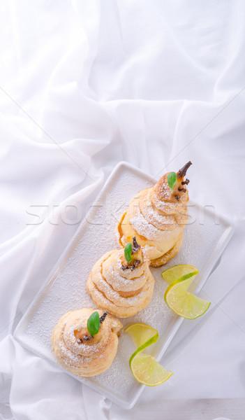 梨 ペストリー 食品 ホーム フルーツ 背景 ストックフォト © Dar1930
