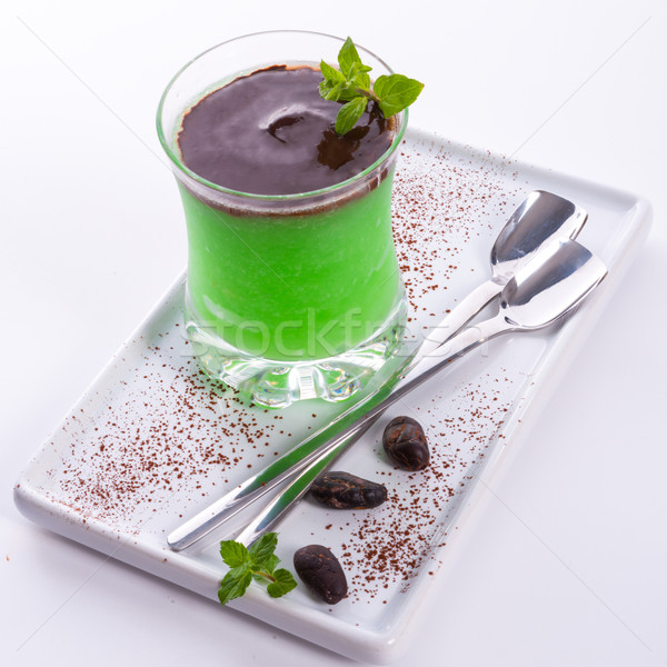 Menthe sorbet feuille fruits glace bar Photo stock © Dar1930