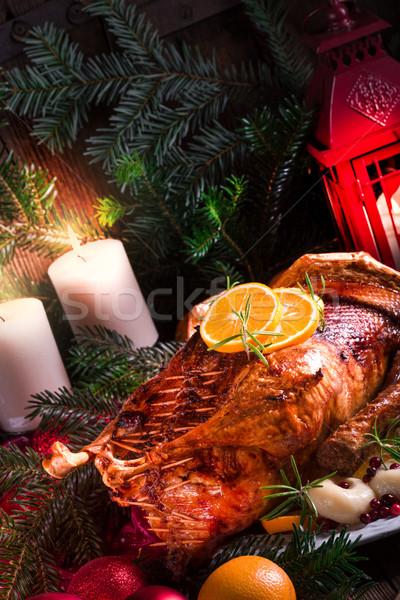 Christmas duck Stock photo © Dar1930