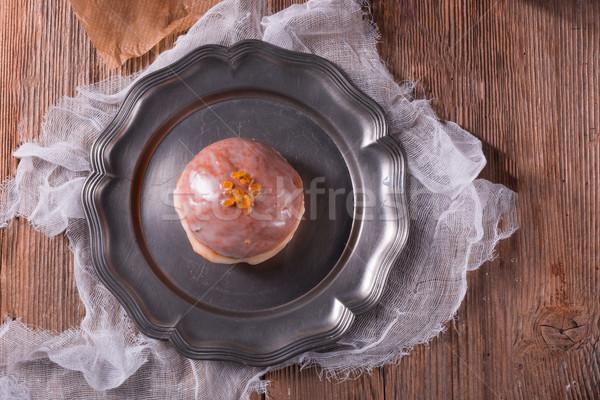 歳の誕生日 チョコレート パン ドリンク デザート カーニバル ストックフォト © Dar1930