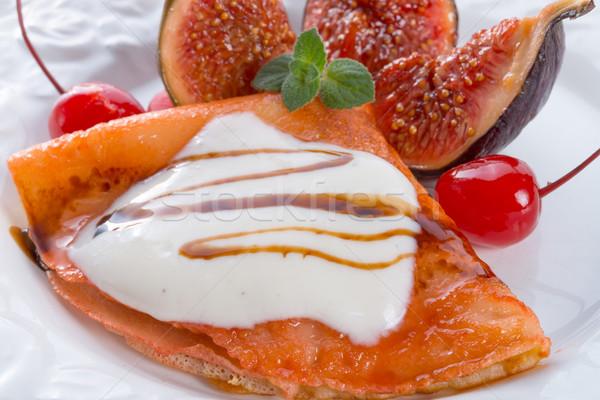 Gıda kek kahvaltı sıcak tatlı yemek Stok fotoğraf © Dar1930