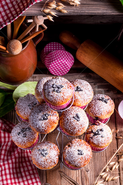 blueberries muffins Stock photo © Dar1930
