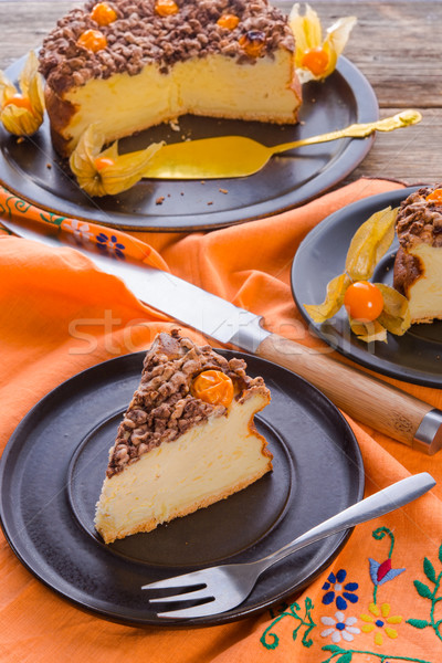 Photo stock: Rustique · cheesecake · texture · oeuf · gâteau · table