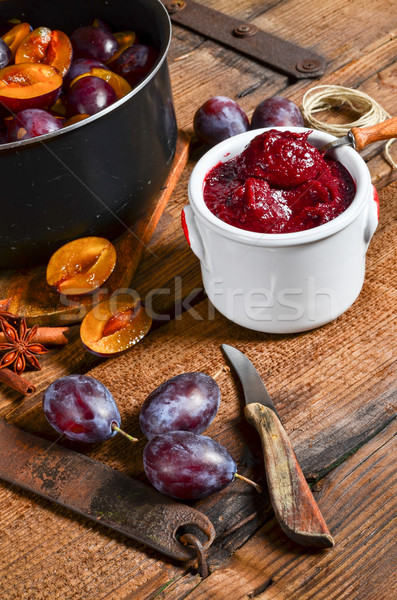 Plum puree Stock photo © Dar1930
