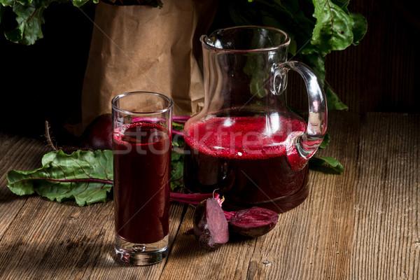 Remolacha jugo vidrio beber rojo energía Foto stock © Dar1930