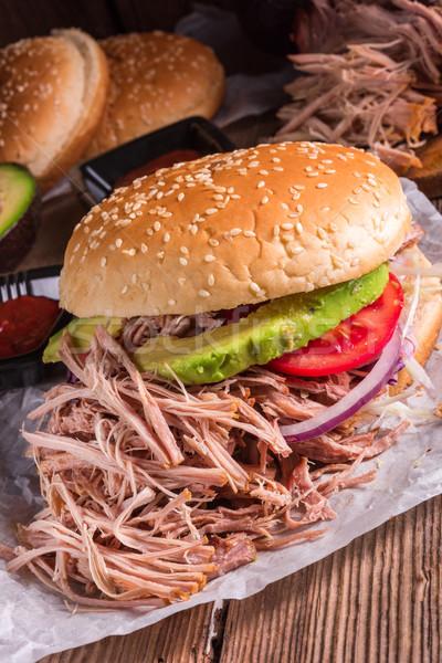 Hamburger pulled pork Stock photo © Dar1930