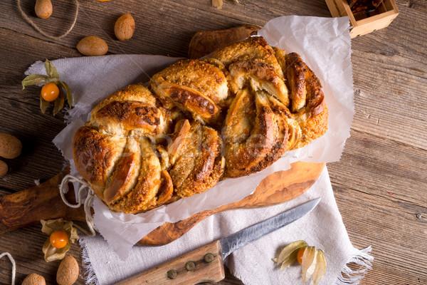 酵母 ケーキ オレンジ 冬 パン チーズ ストックフォト © Dar1930