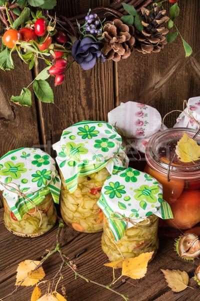 каменщик банку фрукты стекла здоровья кухне Сток-фото © Dar1930