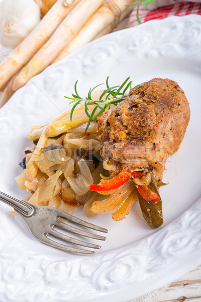 Carne oliva comida casa restaurante bar Foto stock © Dar1930