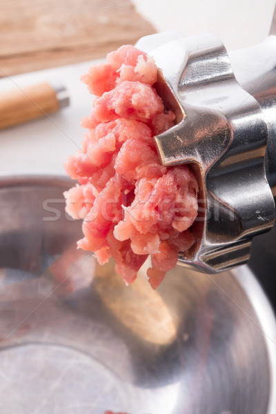 Foto stock: Carne · abstrato · fundo · cozinha · verde